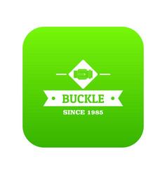 Buckle elegance icon green vector
