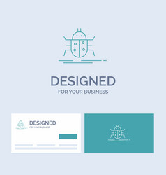 bug bugs insect testing virus business logo line vector image