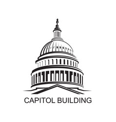 capitol hill vector images over 140 rh vectorstock com capitol building icon vector us capitol building vector