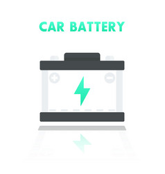 car battery accumulator icon in flat style vector image