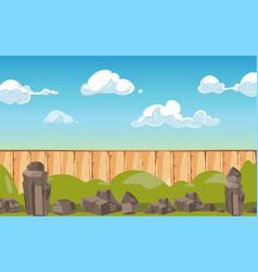 cartoon landscape banner country or village vector image