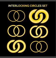 connected circles signs vector image