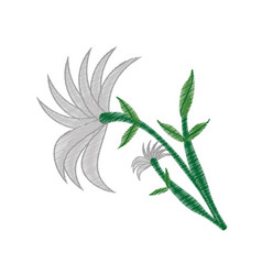 drawing chrysanthemum flower ornament image vector image