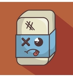 eraser funny character isolated icon design vector image