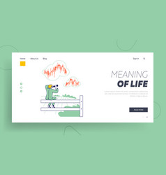 financial trading forecast strategy landing page vector image