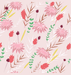 floral ornament abstract colored vector image