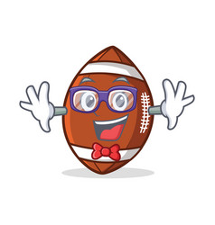 geek american football character cartoon vector image