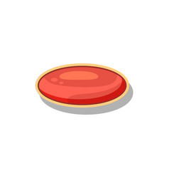 Glossy red button for computer game menu interface vector