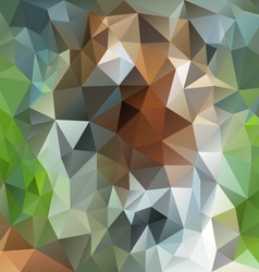 Green brown natural forestry polygon triangular vector