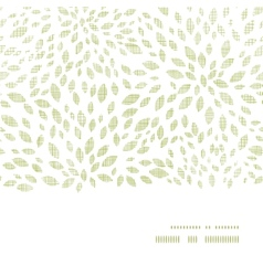 green leaves explosion textile texture horizontal vector image