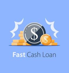 Heap coins revenue increase high interest vector