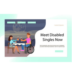 Landing page for virtual relationships vector