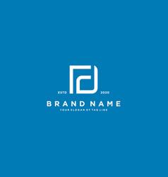 Letter df logo design vector