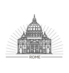 line st peter s basilica vector image