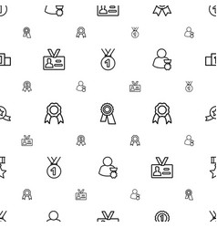 Medal icons pattern seamless white background vector