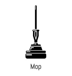 mop icon simple black style vector image