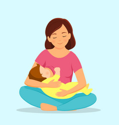 mother breastfeeding baby vector image