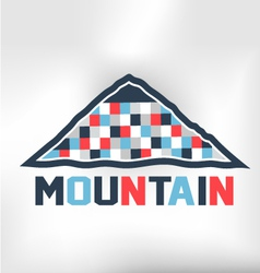 Mountain Blocks vector