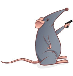 mouse with gun vector image