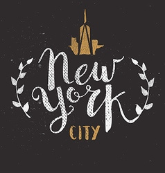 New York City Template Hand Drawn Calligraphy Pen vector