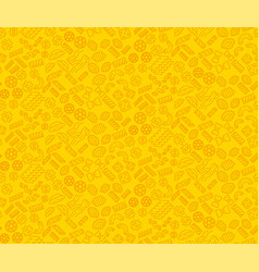 Pasta noodles seamless pattern macaroni linear vector