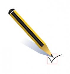 pencil voting vector image