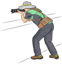 photographer in a hat vector image
