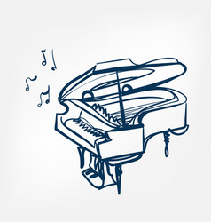 Piano sketch isolated design element vector