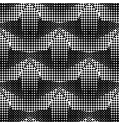 Polka dot pattern stars on a white Casual vector