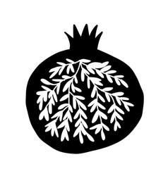 Pomegranate ornate sketch for your design vector