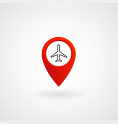 red location icon for airport eps file vector image