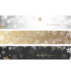 set of three colorful christmas background vector image