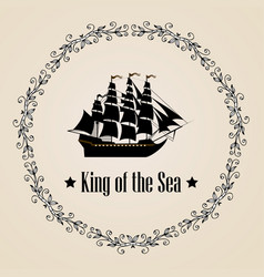 sign of king of the sea vector image