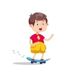 Skateboarding boyHappy vector