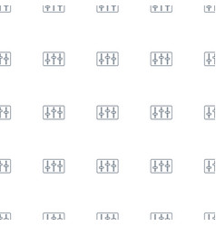 sliders icon pattern seamless white background vector image