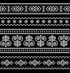 Slovak tribal folk art seamless pattern vector