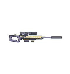 sniper rifle line vector image