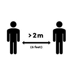 social distancing keep distance sign vector image