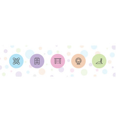 Stand icons vector