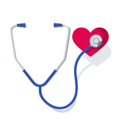 stethoscope and heart 1 vector image