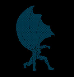 Super hero man landing powerful action vector