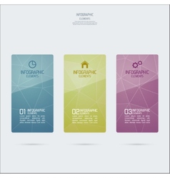 Template design colored glass infographics vector