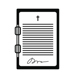 Testament letter black simple icon vector