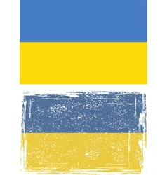 Ukrainian grunge flag vector