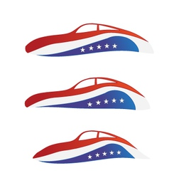 USA car vector image