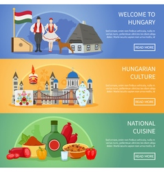 welcome to hungary banners vector image