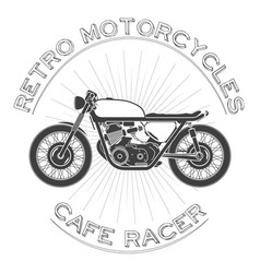 White caferacer vintage motorcycle vector