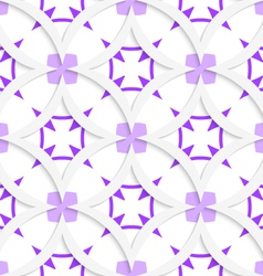 White vertical pointy squares with purple layering vector