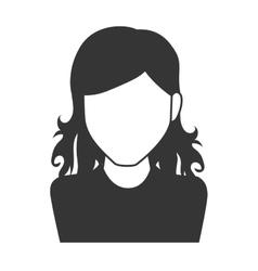 Woman girl female hair person face head icon vector