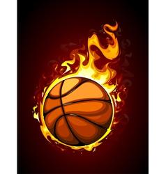 Burning basketball vector image
